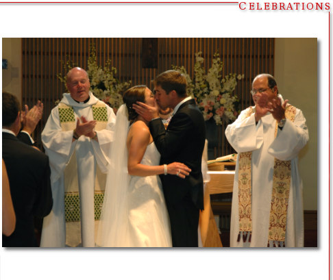 The First Kiss - Catholic Church Wedding Westhampton