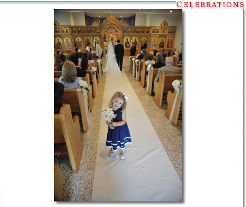 Flower Girl - Greek Orthodox Church Wedding